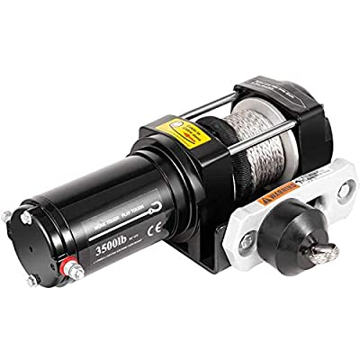VEVOR Truck Winch 3,500LBS, Electric Winch Synthetic Rope 11m/36ft, Power Winch Jeep Winch with Wireless Remote Control and Powerful Motor for UTV, ATV, Jeep Truck and Wrangler in Car Lift