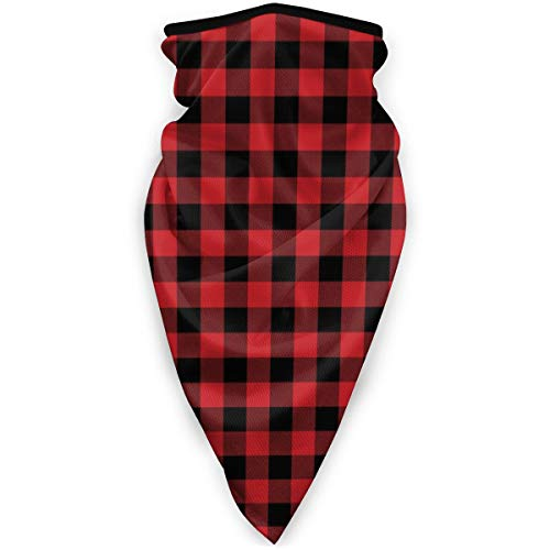 Uosliks Scarf Red Buffalo Plaid 9.5'X20' Inch Multifunctional Cloth/headscarf/neckerchief Multicolor
