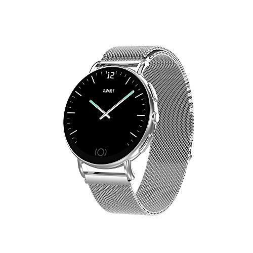 LUCKYGBY Smartwatch,Fitness Armband Uhr Voller Touch Screen Fitness Uhr Bluetooth Wasserdicht Fitness Tracker Sportuhr mit Schrittzähler Pulsuhren Stoppuhr für Damen Herren Smart Watch