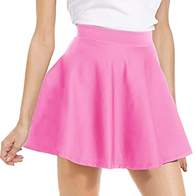 Amazon - 50% Off on  High Waisted Pleated Mini Skirt – Stretchy Flared Skater Skirt for Women