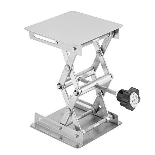 DEWIN Mesa Elevadora - Elevador de Mesa con Piston Plataforma de elevación de acero inoxidable Soporte de elevación de laboratorio Estante de tijera (100 * 100 mm)