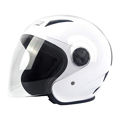 prasku Casco de Motocicleta para Hombre, Deportes de Carreras, Casco de Motocicleta, Protector de Cabeza, Nuevo - Blanco M