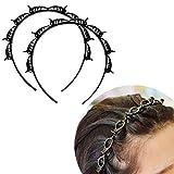 Frisurenhilfe Haarreif mit Klammern,Double Bangs Hairstyle Hairpin,Stirnband Haarhalter Haarschmuck Haarband,Haarreif mit Klammern Schwarz,Twist Clip Stirnband (schwarz)