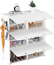 """【5 Tier Shoe Rack】HOMIDEC 20 Pair shoe rack provides a large space to store shoes, toys or handbags, etc.It can help you save more space. Dimension: 31.4""""(L) x 12.6""""(W) x 28.8""""(H). The Max. Load Capacity of Each Cube: 11lbs (5kg). 【Stores Up to 20 Pa..."""