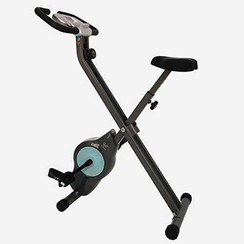 Davina McCall - Bicicleta estática de Ejercicio, Unisex, Gris y Azul