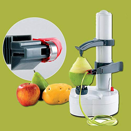 Electric Potato Peeler White Kitchen Automatic Rotating Peeling Tool for Fruit and Vegetable