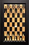 Straight up Chess Empire Chess Pieces Included on Black Cherry Vertical Chess Board