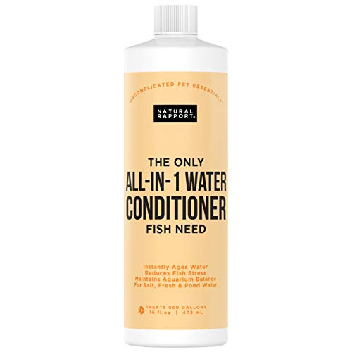 Natural Rapport Aquarium Water Conditioner - The Only All-in-1 Water Conditioner Fish Need - Naturally Detoxifies and Removes Ammonia, Nitrite, Chlorine, and Chloramine (16 fl oz.)