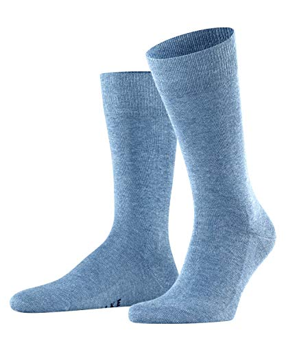 FALKE Herren Socken Family, Baumwolle, 1 Paar, Blau (Light Denim 6660), 43-46 (UK 8.5-11 Ι US 9.5-12)