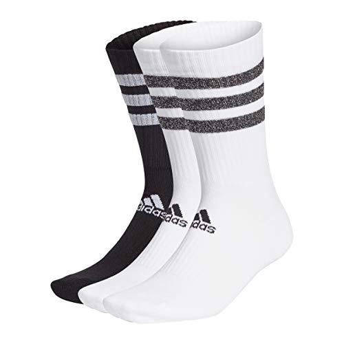 adidas GP3543 3S GLAM CRW WMS Socks unisex-adult white/black/white M