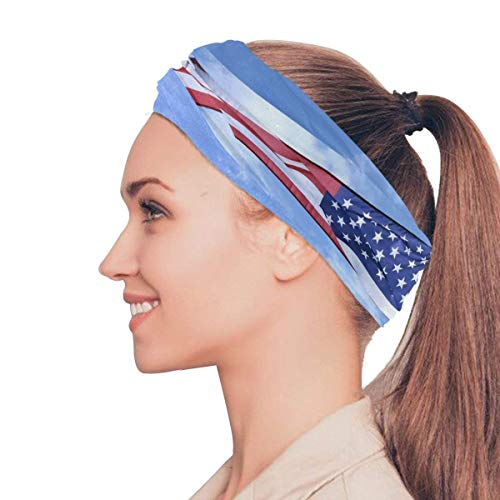 Taroot AA Flying American Flag Bavaclava Face Mask for Women Bandana Neck Gaiter Half Face Masks Cold Weather Men kids