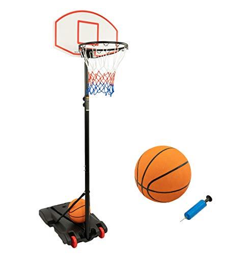 MaxxToys basketballkorb outdoor kinder mit Ständer Tragbar Korbanlage Basketballanlage Höhenverstellbar von 159 bis 214 cm