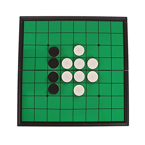 Bitcircuit 500 Stück Reversi Classic Brettspiele Othello, tragbar für Freizeit, Unterhaltung, Magnetschach, 24 mm, faltbar, faltbar, traditionelle Spiele