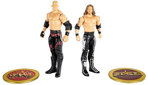 WWE Serie Campeonato Pack 2 figuras Kane y Edge, muñecos articulados de juguete con accesorios...