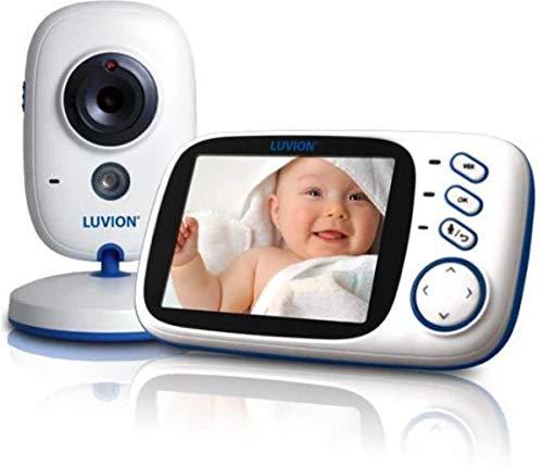 LUVION PLATINUM 3 - Babyphone mit Kamera, 3,2 Zoll Farbdisplay - Weiß-Blau