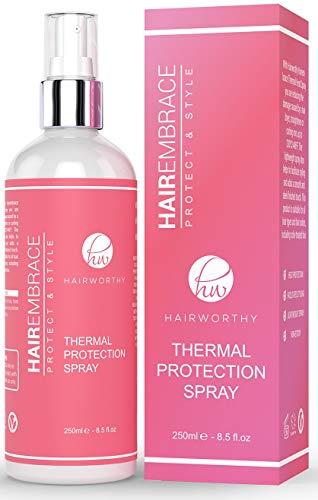 Hairworthy Hairembrace Spray Protettore Per lo Styling Termico. Recupera la Luminositá dei tuoi Capelli, Senza Ricci, Protegge & Stilizza.
