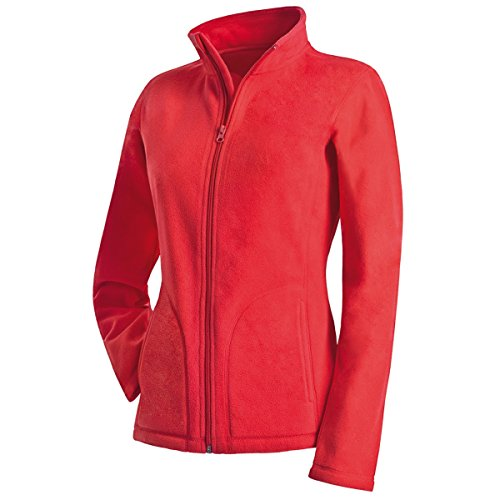 Active By Stedman Damen Fleece-Jacke (XL) (Rot) XL,Rot