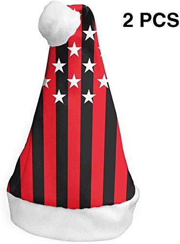 deyhfef Blood Stained Flag (2 Pack) Weihnachtsmütze Christmas Santa Hats S