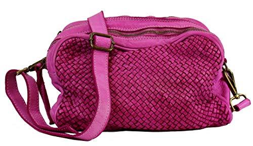BZNA Borsa Lucy Pink Fuxia Italy Designer Clutch Braided Borsa a tracolla in pelle da donna borsa a tracolla borsa in pelle Shopper