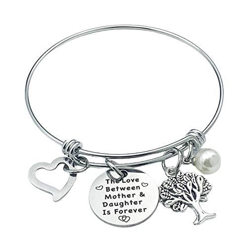 Pulsera de árbol de la vida para mujer, pulsera con árbol de la vida, pulsera para amor entre madre y niña, tamaño ajustable