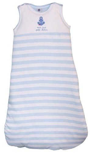 Petit Bateau – 66005 baby jongens slaapzak (gestreept – pastel blauw/wit