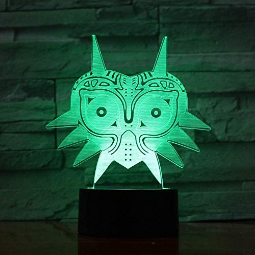 3D illusie licht Majores-masker 3D lava lamp LED nachtlamp met creatieve kleurverandering