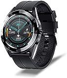 LLM Smartwatch da uomo e da donna, impermeabile, per lo sport, fitness tracker della salute, con Bluetooth per telefono intelligente da uomo, visualizzazione del tempo ((D)