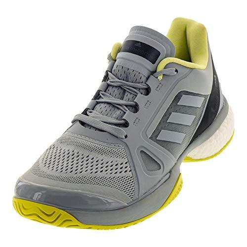 adidas Women's Stella McCartney Barricade Boost 2018 Tennis Shoe (10.5, Eggshell Grey/Aero Lime/Core Black)