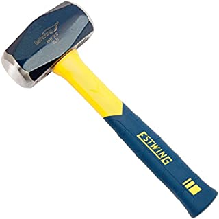 Estwing Sure Strike Drilling/Crack Hammer - 3-Pound Sledge with Fiberglass Handle & No-Slip Cushion Grip - MRF3LB