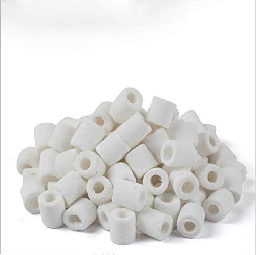 TONGXU Anelli di filtro in ceramica per acquari, filtro biologico, bio-filtro, anello di ceramica per pesci stagni, 500 g