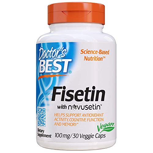 Doctor\'s Best, Fisetin, 100 mg, 30 vegane Kapseln, glutenfrei, ohne Soja