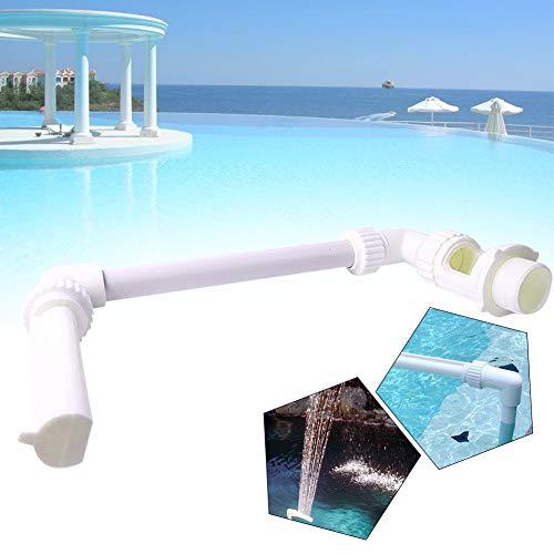 Gcroet 1 Set Poolspritze Einstellbarer Pool Springbrunnen Wasserfall Wasserfontäne Poolbrunnen Pool Brunnen Wasserfall Brunnen für Schwimmbäder Wasserfallbrunnen Wasserbecken Dekoration