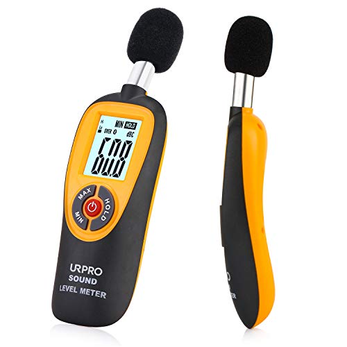 URPRO Decibel Meter, Digital Sound Level Meter 30-130 dB Audio Noise Measure Device Dual Ranges HT-90A