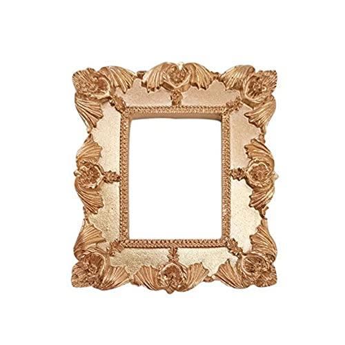 Ins Golden Retro pequeño marco de fotos decoración accesorios de fotos marcos de adornos 2020-China, J3
