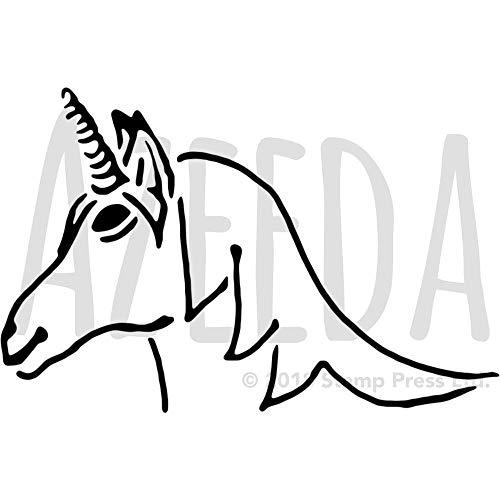 Azeeda A4 'Einhornkopf' Wandschablone / Vorlage (WS00034811)