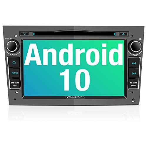 PUMPKIN Android 10 Autoradio für Opel Radio mit Navi / DVD Player Unterstützt Bluetooth DAB+ WiFi 4G USB CD Android Auto MicroSD 7 Zoll Bildschrim Grau