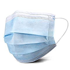 3-Ply Design: Constructed with a comfortable non-woven inner layer, melt-blown fabric middle layer, and a waterproof outer layer to help guard against droplets. Built for Comfort: No expense spared to provide you a high-quality disposable mask with c...