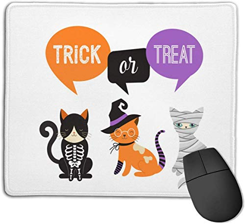 HJJL Mauspad Mousepad Anti-SlipHappy Halloween - Cats in Monsters Costumes Mouse Pad Mat Mice Mousepad Desktop Mouse pad Laptop Mouse pad Gaming Mouse pad 9.84x 11.8 inches.