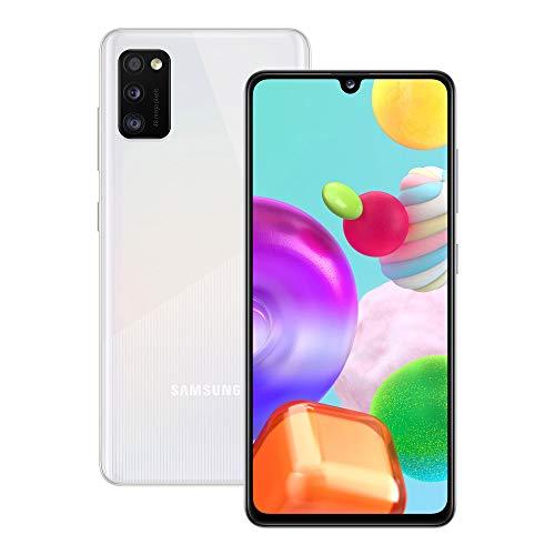 Samsung Galaxy A41, Dual Sim, Android 10, 151 g, [VSmartphone, Display 6.1' Super AMOLED, 3 Fotocamere Posteriori, 64GB Espandibili, RAM 4 GB, Batteria 3500 mAh, 4G, [Versione Italiana], White