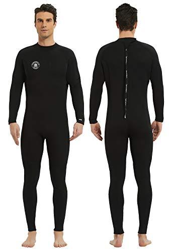 Lemorecn Wetsuits Mens Neoprene 3/2mm Full Body Diving Suit (3038black-3XL)