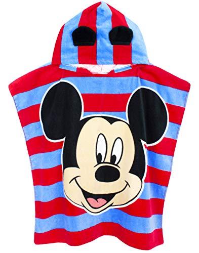 Disney Mickey Mouse Unisexe Poncho Taille Unique Serviette de Bain Enfants Fille