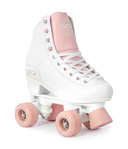 Sfr Skates Unisex, Jugend Figure Quad Skates Jugendliche, Mehrfarbig (White Ink), 34