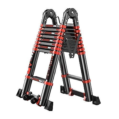 Liuxiaomiao Extension ladder Ladder Multi-Purpose Aluminium Telescoping Extension Extend Draagbare Opvouwbare Lichtgewicht Ladder Voor industriële decoratie raamreiniging