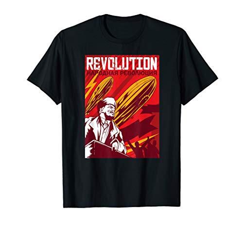 Lenin Vintage Revolution Poster Zeppelin Luftballon T-Shirt