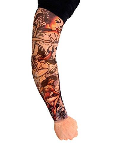 Tattoo Ärmel Rockabilly bunt M
