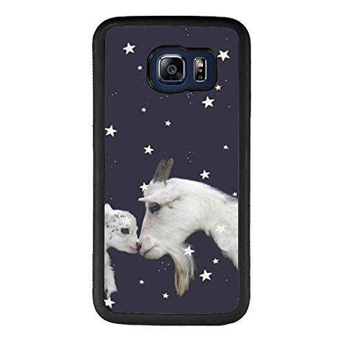 Starry Sky Goat Phone Case Fits for Samsung Galaxy S6 Edge (2015) (5.1-Inch)