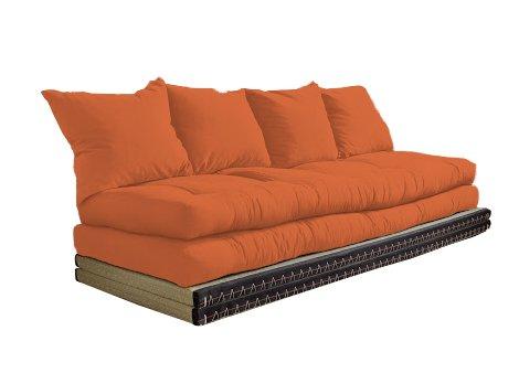 Vivere Zen - Divano Letto Futon - Kanto Double - 2 futon 80x200 + 2 Tatami 90x200 cm - Senza Cuscini