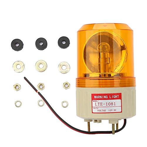 Waarschuwingslampje, DC 12V LED Alarm knippert Roterende lichten, veiligheidsbaken stroboscooplamp, voor fabriek, bouwplaats, bank, openbare plaatsen(Geel)