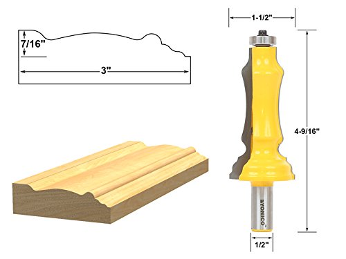 Yonico 16124 Door & Window Casing Router Bit 1/2