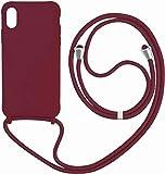 Funda con Cuerda para iPhone 6/7/8,Moda y Practico Carcasa Gel de sílice TPU Case Cover con Colgante/Cadena.